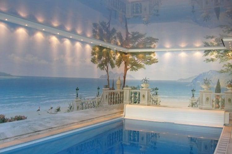 Spanndecke Schwimmbad
