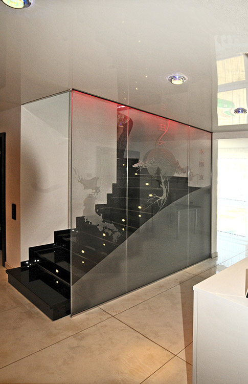 Treppe mit Kepkaverglasung
