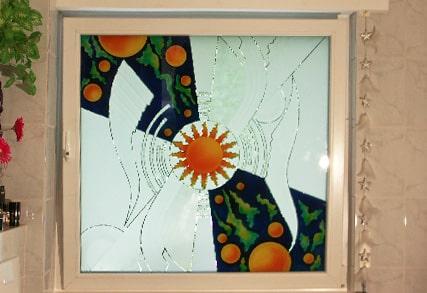 Fenster mit Muster