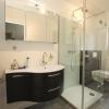 Badezimmer mit Spanndecke