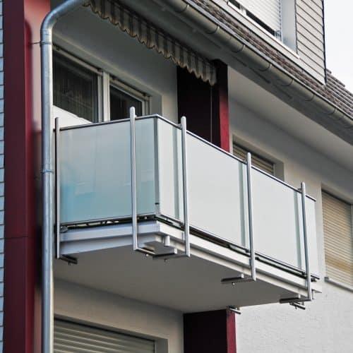 Balkone Glas Edelstahl